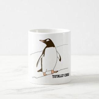 Caneca De Café Pinguim em preto e branco