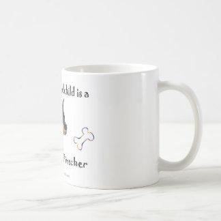 Caneca De Café pinscher do doberman - mais produz