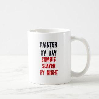 Caneca De Café Pintor pelo assassino do zombi do dia em a noite