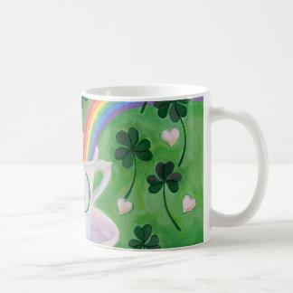 Caneca De Café Pintura afortunada irlandesa do copo de café