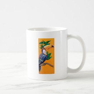 Caneca De Café Pintura bonita do pássaro de Toucan