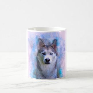 Caneca De Café Pintura da arte da cor de água do cão do rouco
