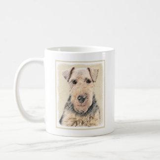 Caneca De Café Pintura de galês Terrier - arte original bonito do