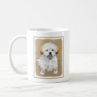 Caneca De Café Pintura do filhote de cachorro de Lhasa Apso -