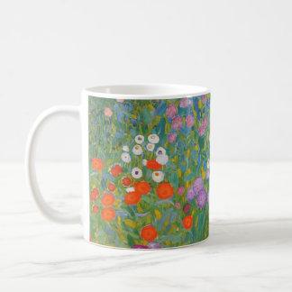 Caneca De Café Pintura do jardim de Klimt mim Nouveau