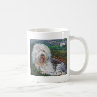 Caneca De Café Pintura inglesa velha bonita da arte do cão do
