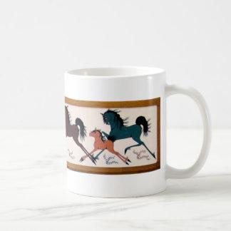 Caneca De Café Pintura mural do cavalo de Chalee do pop