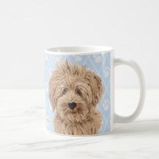 Caneca De Café Pinturas do cão de Labradoodle/amor de