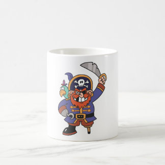 Caneca De Café Pirata do gengibre com papagaio