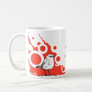 Caneca De Café Pisco de peito vermelho vermelho