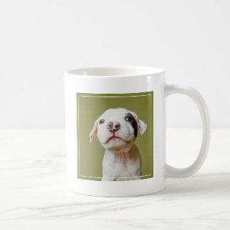 Caneca De Café Pitbull com o olho manchado preto