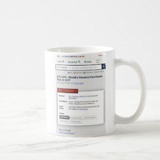 Caneca De Café Plano dos cuidados médicos do mundo o grande