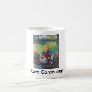 Caneca De Café Plantando flores