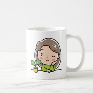 Caneca De Café Plantas crescentes