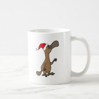Caneca De Café Platypus Pato-faturado engraçado no Natal do