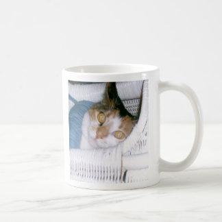 Caneca De Café Pnha seu nome sobre Cassie o gato