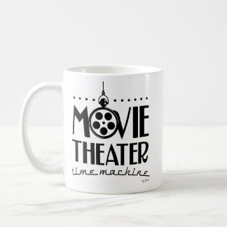 Caneca De Café Podcast da máquina do tempo do cinema