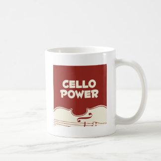 Caneca De Café Poder do violoncelo!