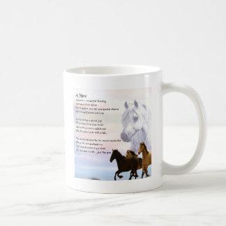 Caneca De Café Poema da sobrinha - cavalos