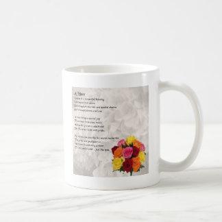 Caneca De Café Poema da sobrinha - flores