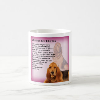 Caneca De Café Poema do design & do irmão do cão do Bloodhound