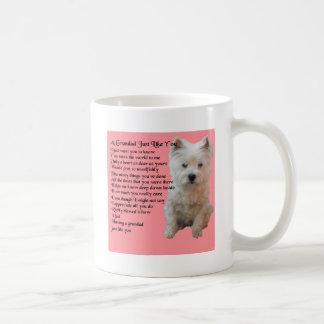 Caneca De Café poema ocidental do Grandad de Terrier das