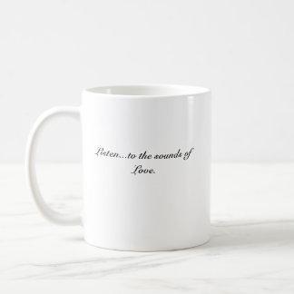 Caneca De Café Poetsheart0001, escutam… os sons do amor