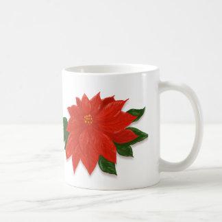 Caneca De Café Poinsétia do vermelho do Natal