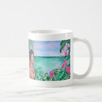 Caneca De Café Polinésio no paraíso