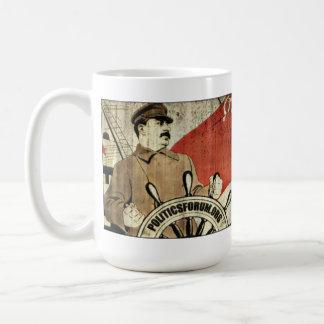"""Caneca De Café PoliticsForum.org: O """"camarada Stalin guiar-nos-á"""