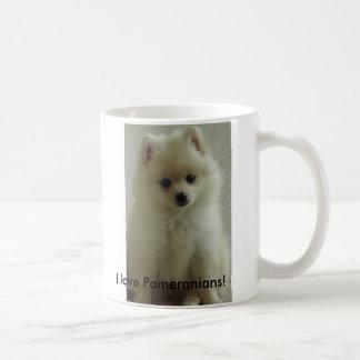 Caneca De Café pom, eu amo Pomeranians!
