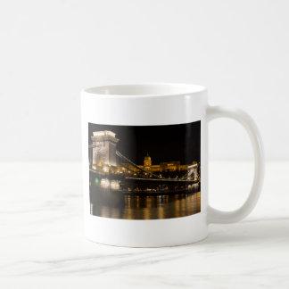 Caneca De Café Ponte Chain com castelo Hungria Budapest de Buda