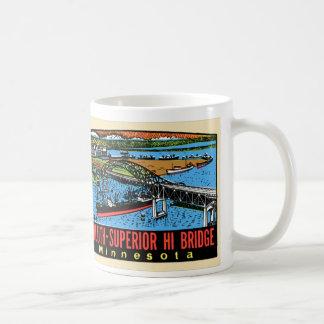 Caneca De Café Ponte retro do manganês de Duluth do decalque do
