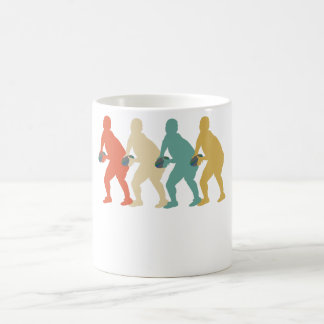 Caneca De Café Pop art retro do rugby