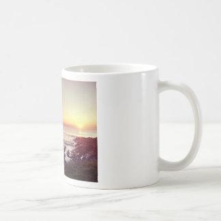 Caneca De Café Por do sol da praia de Fistral
