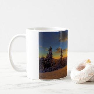 Caneca De Café Por do sol do inverno