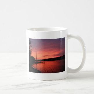 Caneca De Café Por do sol do rio do Seneca