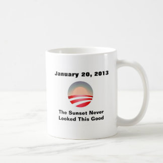 Caneca De Café Por do sol e mudança de Anti-Obama