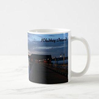 Caneca De Café Por do sol na ilha de Whidbey, Coupeville,