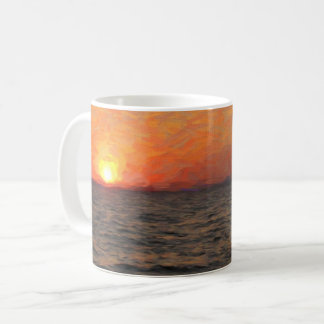 Caneca De Café Por do sol no lago Yellowstone