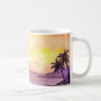 Caneca De Café Por do sol nos trópicos pelo Greenfield de Farida