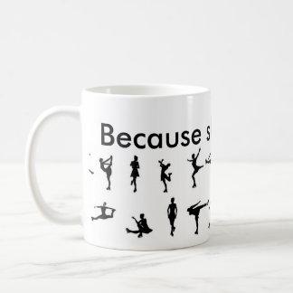 Caneca De Café porque patinar é vida