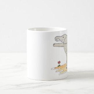 Caneca De Café Pose da ioga do dançarino do elefante