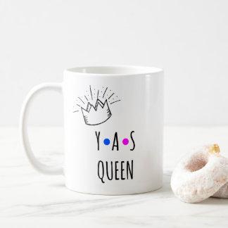 Caneca De Café Positividade bonito do corpo da RAINHA de YAS