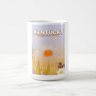 Caneca De Café Poster de viagens bonito da fazenda de Kentucky