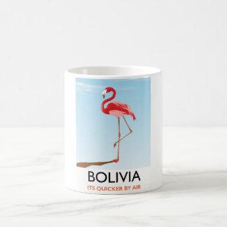 Caneca De Café Poster de viagens do flamingo de Bolívia