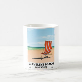 Caneca De Café Poster do beira-mar de Lancashire da praia de