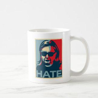 Caneca De Café Poster do Obama-estilo do ódio de Hillary Clinton