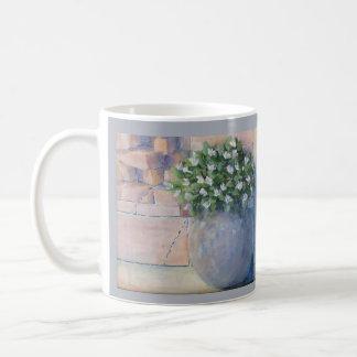 Caneca De Café Pote de flor azul
