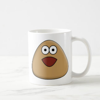 Caneca De Café Pou Excited